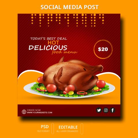 Chicken fry post design